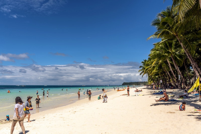 White Beach, Boracay Philippines travel route 3 weeks