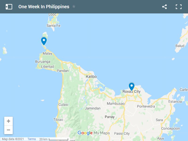 One Week In Philippines map