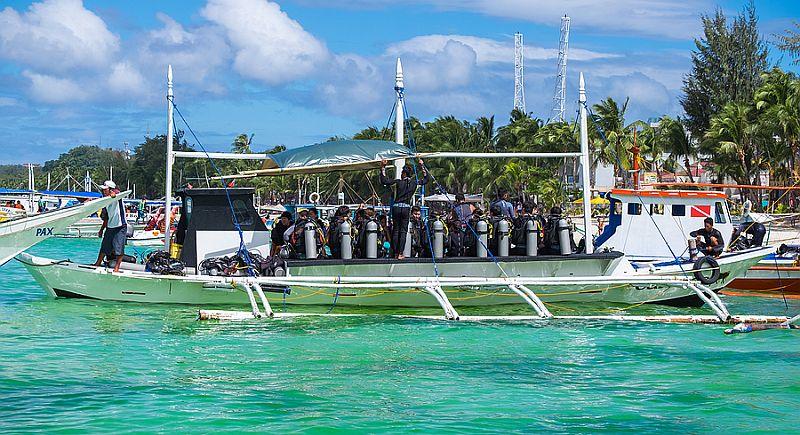 Scuba diving in Boracay Island