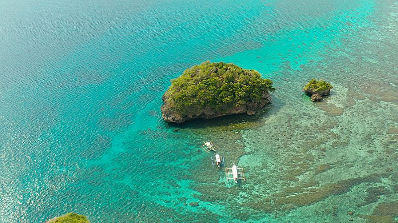 Coral Reefs in Boracay As seen From Above